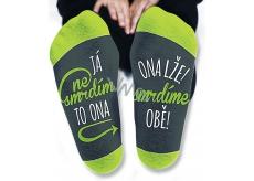 Nekupto Rodinné darčeky s humorom Ponožky Ja nesmrdím, veľkosť 43-46