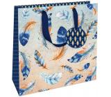 Nekupto Darčeková papierová taška luxusné 23 x 23 x 10 cm 1842 LIM