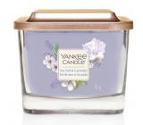 Yankee Candle Sea Salt & Lavender - Morská soľ a levandule sójová vonná sviečka Elevation malá sklo 1 knôt 96 g