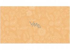 Apli Darčekový baliaci papier 70 x 200 cm Nordik Fun Pastel oranžový - kvety