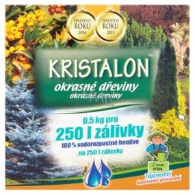 Agro Kristalon Okrasné dreviny univerzálne hnojivo 0,5 kg pre 250 l zálievky