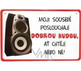 Nekupto Humor po Česku humorná cedulka 035 15 x 10 cm 1 kus
