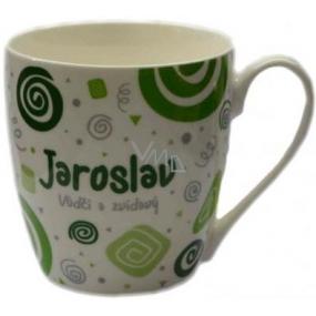 Nekupto Twister hrnek se jménem Jaroslav zelený 0,4 litru