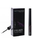 HairPlus FacEvolution Vyživující rychleschnoucí tekuté oční linky s obsahem růstového séra Černá 1,5 ml