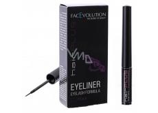 FacEvolution Hairplus Eyeliner Vyživující tekuté oční linky k prodloužení a růstu řas Černá 1,5 ml