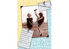 Albi Hracie prianie do obálky K narodeninám Dve cvičenky Holduj tancu, pohybu Jan Werich 14,8 x 21 cm