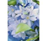 Nekupto Taška 983 40 modrá - bílé květy BM