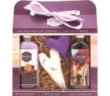 Bohemia Herbs Lavender La Provence sprchový gel 100 ml + olejová lázeň 100 ml + patchwork 2 kusy, kosmetická sada