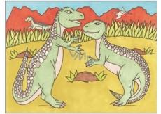 Malování vodou dinosauři č.3 28 x 21 cm