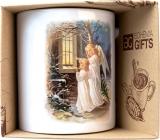 Bohemia Gifts & Cosmetics Keramický hrnček s obrázkom Dvaja anjeli 350 ml