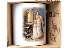 Bohemia Gifts Keramický hrnček s obrázkom Dvaja anjeli 350 ml