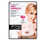 Iroha Anti-Wrinkles Látková maska proti vráskam s koenzýmom Q10 a kyselinou hyalurónovou 23 ml