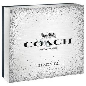 Coach Platinum toaletná voda pre mužov 100 ml + sprchový gél 100 ml + toaletná voda pre mužov 7,5 ml, darčeková sada
