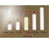 Lima Gastro hladká sviečka slonová kosť valec 50 x 170 mm 1 kus