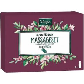 Kneipp Mein kleines Massageset Masážnych oleja Ylang-Ylang 20 ml + Staré dobré časy 20 ml + Mandľové kvety 20 ml, kozmetická sada