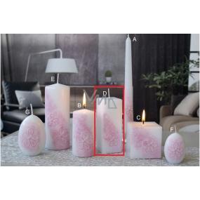 Lima Kvetinová sviečka ružová hranol 45 x 120 mm 1 kus