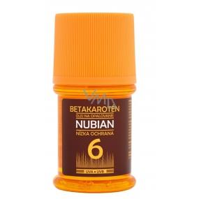 Nubian OF6 Brtakaroten vodeodolný olej na opaľovanie 60 ml