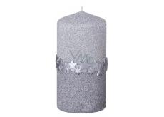 Arome Hviezdny pásik sviečka strieborná valec 60 x 120 mm 260 g
