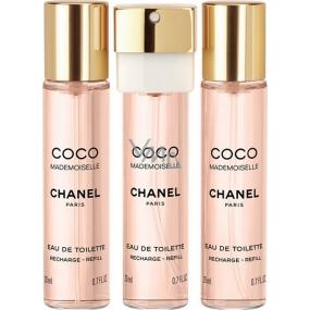 Chanel Coco Mademoiselle toaletní voda náplně pro ženy 3 x 20 ml