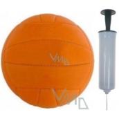 Garnier Volejbalový míč oranžový 1 kus + pumpička na míče 1 kus