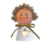 Anděl na postavení vánoční figurka cca 8 cm