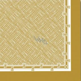 Ditipo Papierové obrúsky 3 vrstvové 33 x 33 cm 20 kusov Vianočný Zlatý motív
