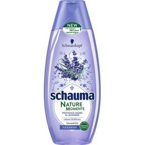 Schauma Nature Moments Provensálske byliny a levandule pre objem a plnosť šampón na vlasy 400 ml