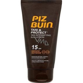 Piz Buin Tan & Protect SPF15 ochranné mlieko urýchľujúci proces opaľovanie 150 ml