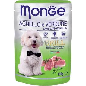 Monge Dog Grill jahňacie so zeleninou kapsička 100 g