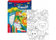 Amos Rámček s plátnom ZOO + krajony 8 farieb 28 x 20 cm + darček