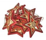 Emos Osvetlenie vianočné reťaz hviezdy 1,35 m, 10 LED, teplá biela + 0,3 m prívodný kábel