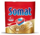 Somat Gold s tablety do umývačky 12 funkciami odstraňujú aj tie najodolnejšie zvyšky a škvrny od čaju i kávy a poskytnú perfektné výsledky umývania už pri 40 ° C 36 tablet Duopack
