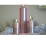 Lima Stuha sviečka svetlo ružová valec 60 x 220 mm 1 kus