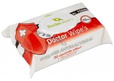 Doctor Wipes Antibacterial s obsahom chlorexidinu navlhčené antibakteriálne obrúsky s klipom 72 kusov