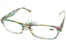 Okuliare diop.plast. + 4 farebné prúžky MC2139