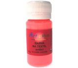 Farba na textil svietiace 74 neon červená Art E Miss 40g