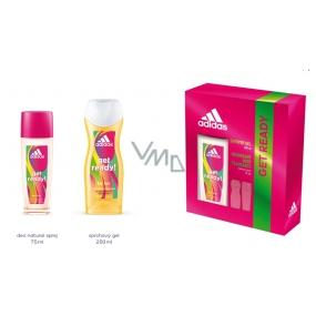 Adidas Get Ready! for Her parfumovaný deodorant sklo 75 ml + sprchový gél 250 ml kozmetická sada pre ženy