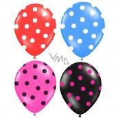 Rappa Balónik nafukovacie s potlačou bodkami 4 farby, 3 kusy