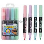 Centropen Highlighter Flexi Soft zvýrazňovač pastelové odtiene 4 kusy v etui