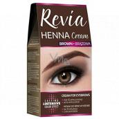 REVIO Henna farba na obočie, krém 15 ml + aktivátor 15 ml, 02 Hnedá