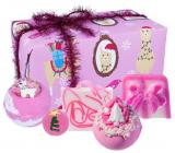 Bomb Cosmetics Fleece Navidad šumivý balistik do kúpeľa 2 x 160 g + glycerínové mydlo 2 x 100 g + maslová gulička, kozmetická sada