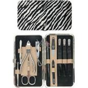 Kellermann 3 Swords Luxusná manikúra 11 dielna Fashion Materials v aktuálnom módnom materíálu Zebra 56210 FN