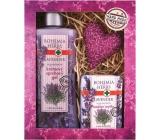 Bohemia Herbs Lavender krémový sprchový gel 250 ml + mýdlo 100 g + patchwork různé motivy, kosmetická sada