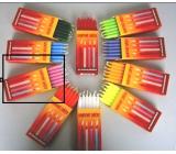 Dortové svíčky Růžová 95 x 8 mm 12 ks
