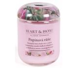 Heart & Home Popínavá ruža Sójová vonná sviečka strednej horí až 30 hodín 110 g