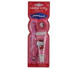 Hello Kitty kartáček na zuby 3+ měkký + Jahodová zubní.pasta 28 ml pro děti dárková sada expirace 6/2018