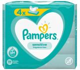 Pampers Sensitive vlhčené obrúsky pre deti 4 x 52 kusov