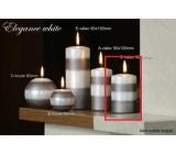 Lima Elegance White sviečka svetlo hnedá valec 60 x 90 mm 1 kus