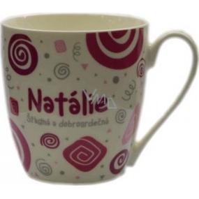 Nekupto Twister hrnek se jménem Natálie růžový 0,4 litru