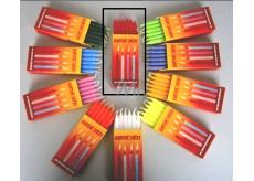Dortové svíčky Červená 95 x 8 mm 12 ks